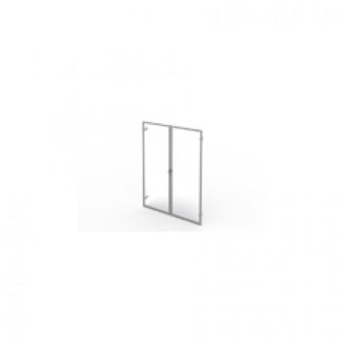Двери для стеллажа стекло в раме, 79,4×2,1×108 см, КСМ22