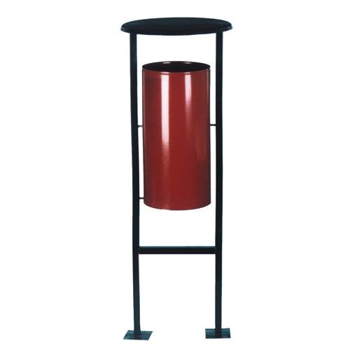 Металлическая уличная урна, 40,5х40,5х117,5 см, УК-1